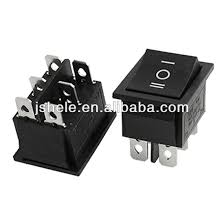 6 pin dpdt on off on 3 position snap in rocker switch 15a 250v 20a