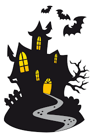 haunted house clipart transparent pencil and in color haunted