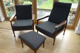 Heals Sofas 2 Vintage 1960s Guy Rogers Heals Armchairs And Footstool Newly