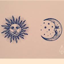 collection of 25 feminine moon and sun tattoos