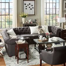 6 seat sectional sofa knightsbridge tufted scroll arm chesterfield 6 seat l shaped