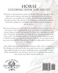 amazon com horse coloring book for adults an coloring book