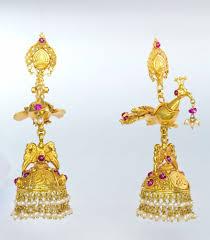 kerala style jhumka earrings earrings bhima jewellers
