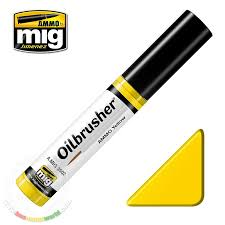 ammo by mig jimenez oilbrusher ammo yellow oil paint with