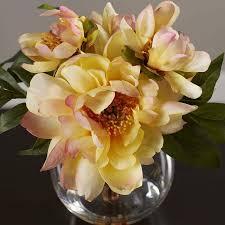 yellow peonies yellow peonies in acrylic water vase reviews joss