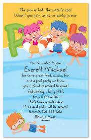 free printable kids pool party invitations templates 4 kids