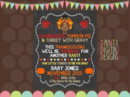 thanksgiving pregnancy announcement printable 8x10 keepsake