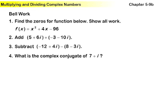 dividing complex numbers worksheet worksheets