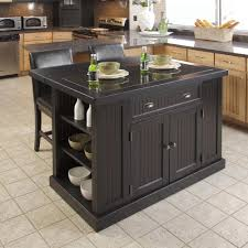 home styles nantucket distressed black kitchen island with stools