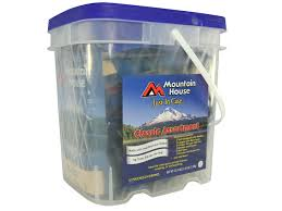 mountain house just case classic freeze dried food bucket mpn 80635