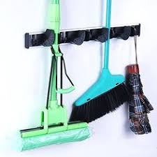 Organizer For Garage - greenco wall and closet mount organizer rack holds brooms mops