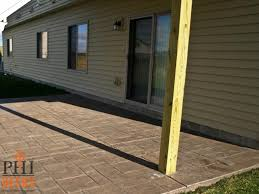 Stamped Concrete Patio Maintenance Low Maintenance Deck With Concrete Patio Shakopee Mn