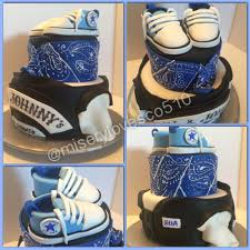 baby blue sons of anarchy baby shower cake all edible with baby