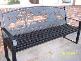 park benches u2013 custom designed johns welding shop of tomah wi
