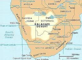 africa map kalahari desert modern evolved in southern bushmen daily mail