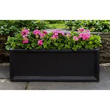 Black Planter Boxes by Campania International Denbigh Large Window Box Planter Onyx