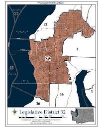 Map Of Greater Seattle Area by Washington U0027s 32nd Legislative District Wikipedia