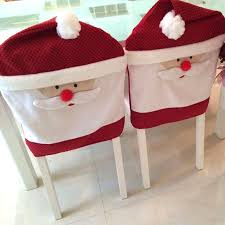 Santa Chair Covers Christmas Decoration Supplies Christmas Kitchen Chair Covers
