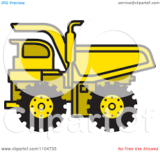 royalty free rf dump truck clipart illustrations vector