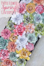 paper flower centerpieces paper flower centerpiece the happy scraps