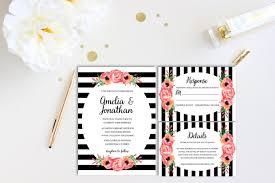 black and white striped wedding invitations 30 wedding invitations printable psd ai vector eps design
