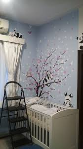the wall decal blog floral tree with panda wall mural