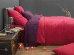 linge lit lin linge de lit housse de couette en lin lavé prune 100 lin