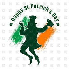 st patrick u0027s day poster with silhouette of joyful leprechaun and