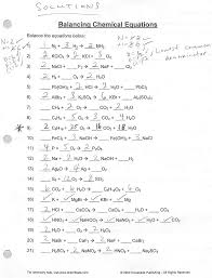 Chemical Equations And Reactions Worksheet 14 Best Images Of Balancing Chemical Reactions Worksheet