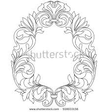 ornamental frame peacock stock vector 133957466