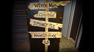 2016 diy halloween decorations wooden sign post youtube