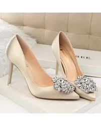 wedding shoes gold new savings on costbuys women pumps buckle rhinestone silk