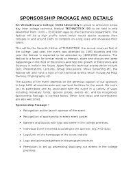 business sponsorship letter template sri venkateswara college tech fest sponsorship letter
