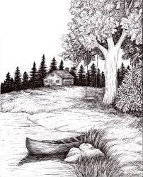 pen and ink wash landscape pen and ink landscape drawings images