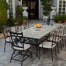 Mosaic Patio Furniture by Palazetto Barcelona 60 In Round Mosaic Patio Dining Set Seats 6