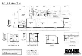 Skyline Manufactured Homes Floor Plans Palm Haven 2410 Ct By Skyline Homes
