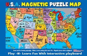 map of the usa usa magnetic puzzle map