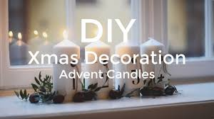 diy christmas advent candle decoration youtube
