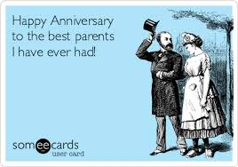 anniversary ecard happy anniversary to the best parents i had