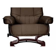 Reclining Leather Armchair Santos Leather Recliner Chair And Footstool Chocolate Furnico