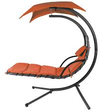 Swing Chair With Stand Hanging Chaise Lounger Chair Arc Stand Air Porch Swing Hammock