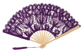 lace fans the 1 for u women s lace fan lilac purple