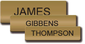 gold name tag satin gold name tag