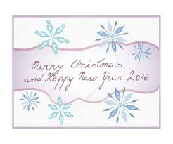 merry christmas and happy new year lettering christmas greeting
