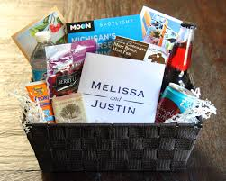 Wedding Gift Basket Ideas Welcome Baskets For Our Wedding Guests Blog Homeandawaywithlisa