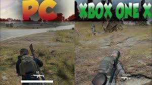pubg xbox one x vs pc pubg gameplay mechanic comparison pc vs xbox one x youtube
