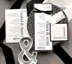 Wedding Invitations With Menu Cards Modern Wedding Menu Modern Table Numbers Custom Place Cards