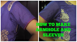 how to make armhole and sleeves youtube