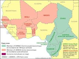 Africa On Map by There Are Cfa Franc And Cfa Franc