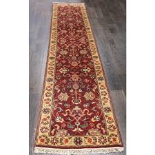 Red Tribal Rug Rugsville Hand Knotted Sarouk Salmon Red Tribal Runner Rug 2 U00276 X 12